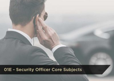 Security Officer Core Subjects (01E) | DCJS Training