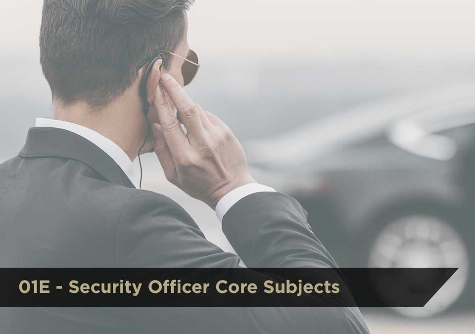 01E Security Officer Core Subjects | DCJS | $100