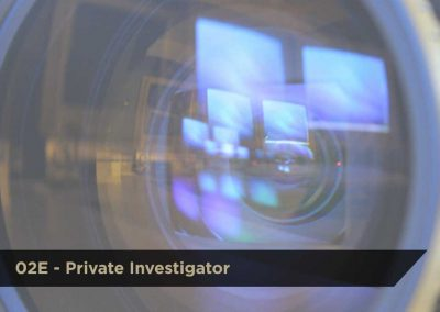 02E Private Investigator | DCJS | $550