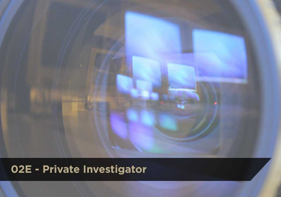 Private Investigator (02E) | DCJS Training