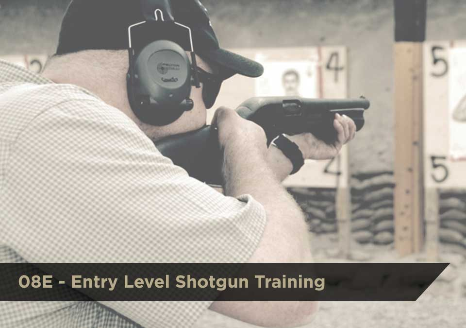 08E Entry-Level Shotgun Training | DCJS | $150