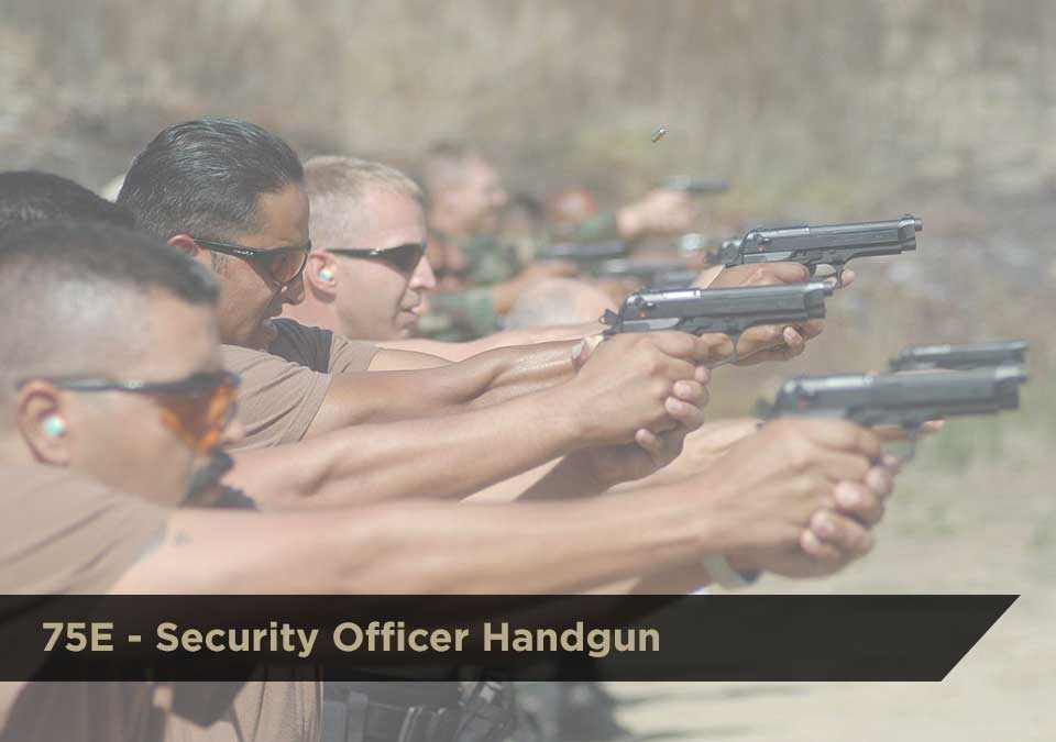 Security Officer Handgun (075E) | DCJS Course