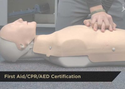 First Aid/CPR/AED Certification | $85